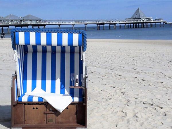 eigener Strandkorb im Sommer