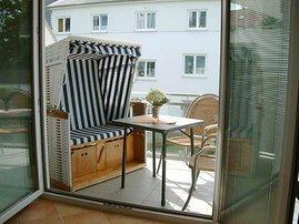 2 Balkone in Süd-Westlage - einer davon mit neuem Strandkorb