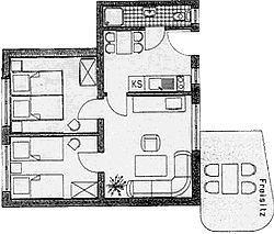 Grundriss der Wohnung 1