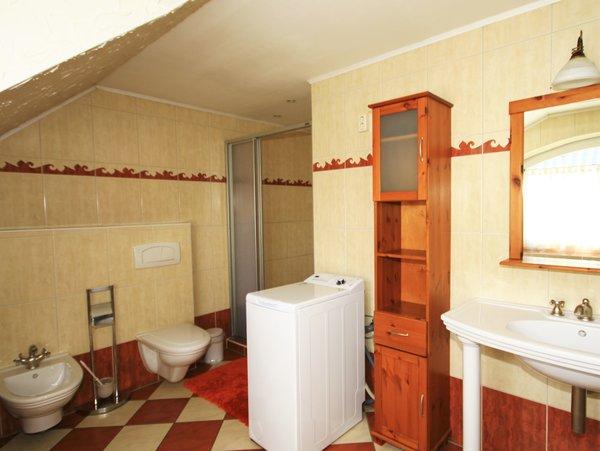 Bidet,großräumige Dusche, Waschmaschine
