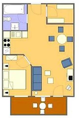 Grundriss der Ferienwohnung Typ 1