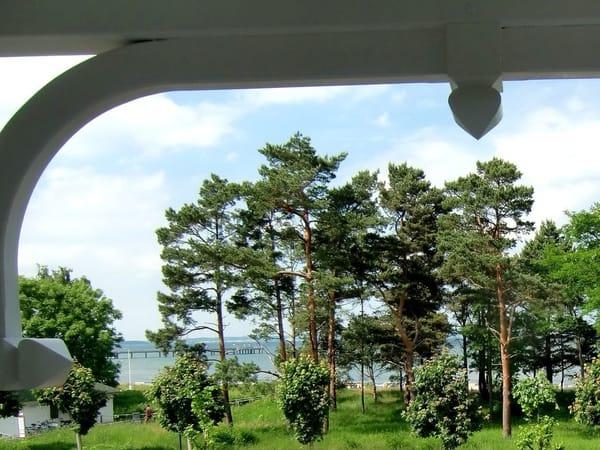 Blick vom Balkon in Richtung Seebrücke Binz