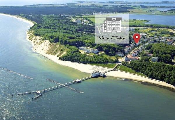 Luftaufnahme Villa Celia Sellin