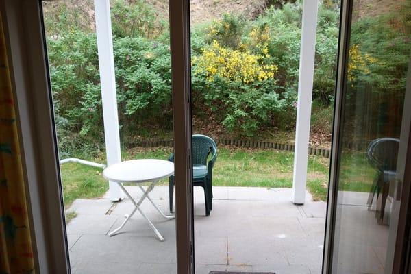 Blick in den Garten Wohnung 3