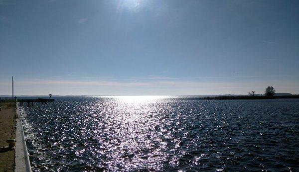 Achterwasser am Hafen