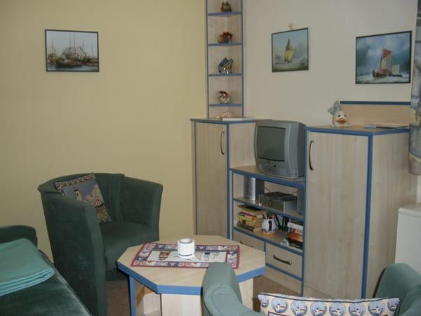 Wohnbereich mit Fernsehschrank