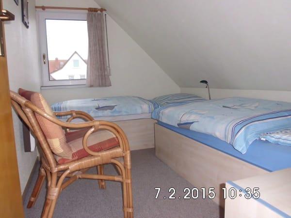 Schlafraum mit Einzelbetten