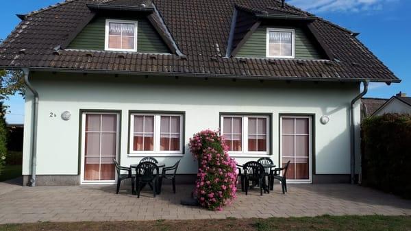 Aussenansicht Terrasse Ferienhaus Quade