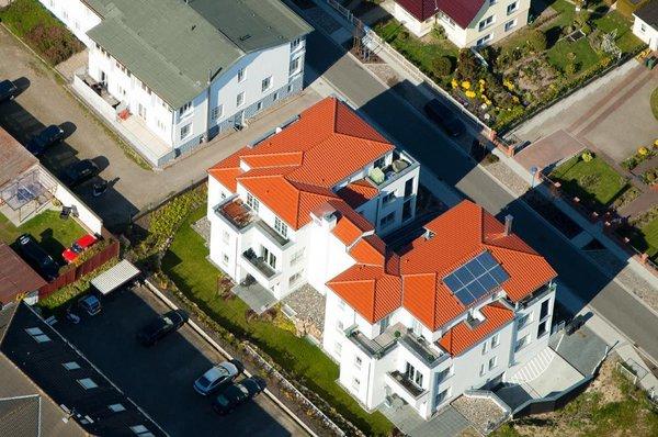 Die Villa Antje aus der Vogelperspektive