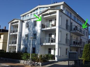 Bild: Fewo Schloonblick - im Zentrum, Strand 200 m