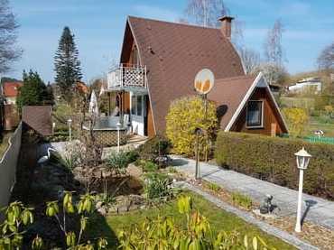 Bild: Finnhaus mit Waldblick im Idylischen Grün