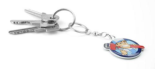 Maatwerk harde sleutelhanger 10-20 cm² - 1 zijdig bedrukt