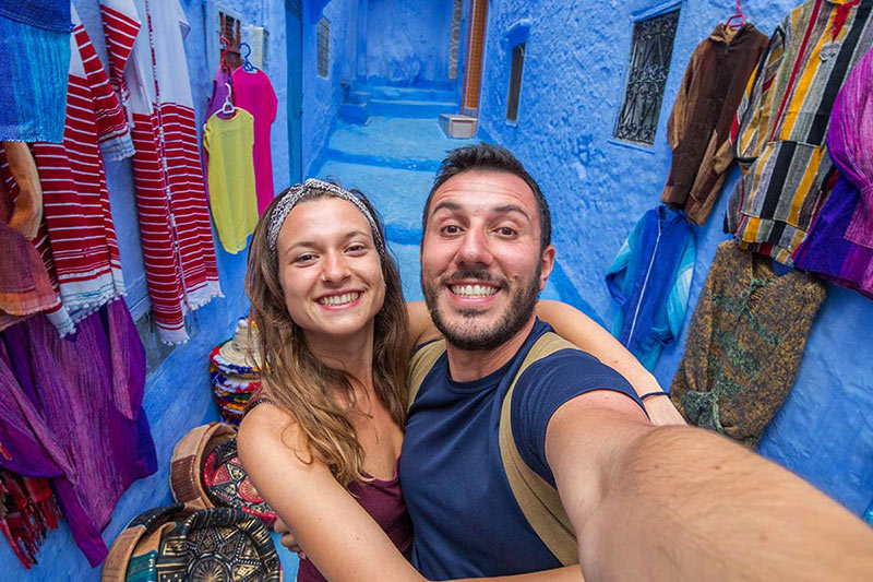 Tourists in Chefchaouen