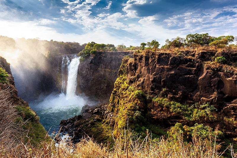 waterfall in Zimbabwe