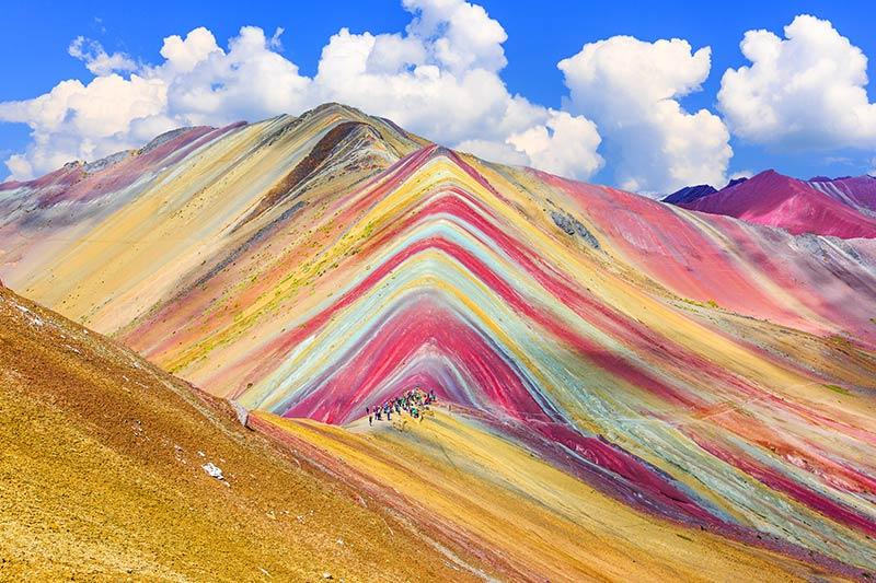 Colour sands of Peru
