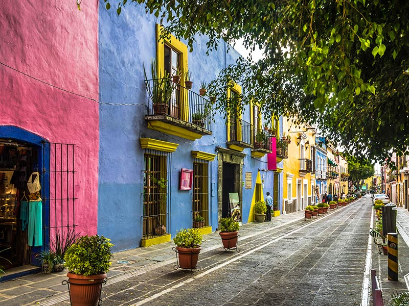 Colorful mexican Street