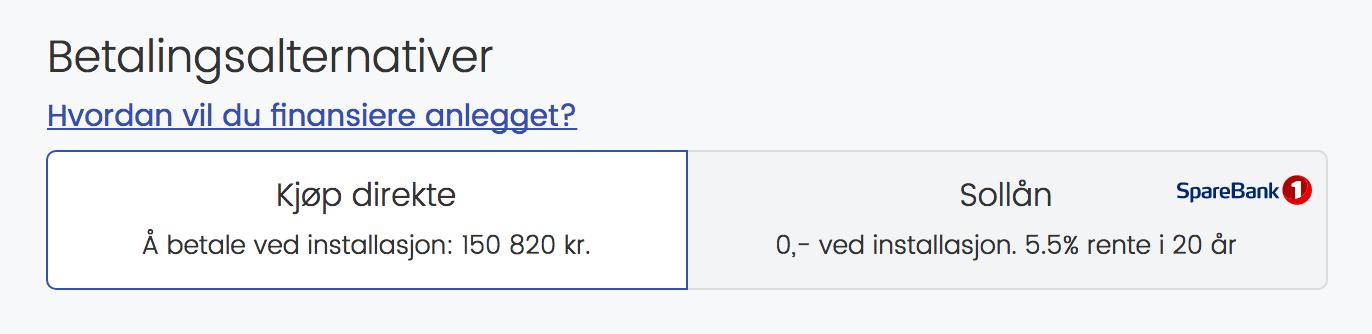 Kjøp nå eller sollån?