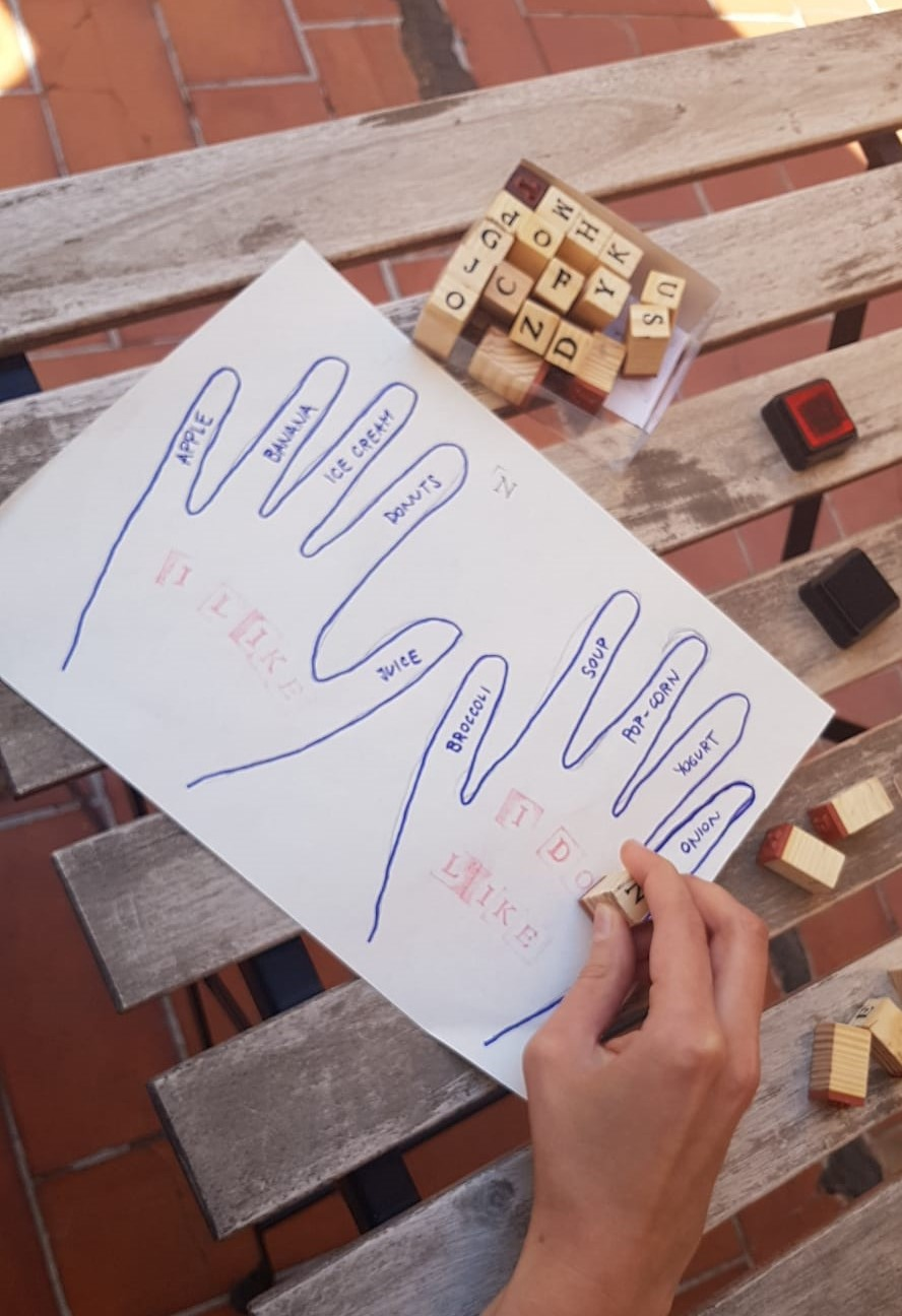 Teaching Spelling Activities For Kids  Spelling with stamps