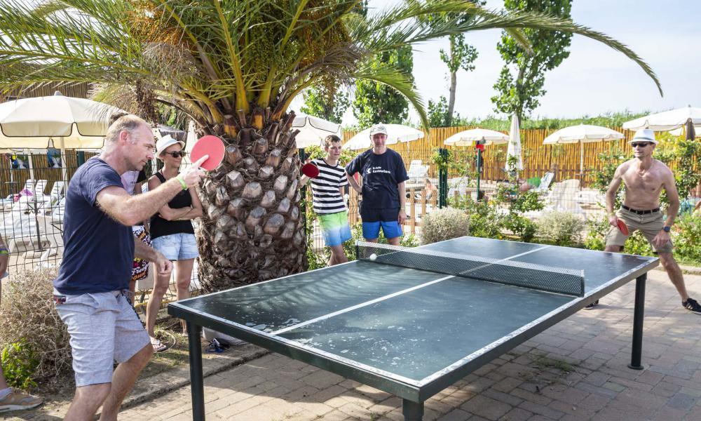 Ping pong al camping Park Albatros Village