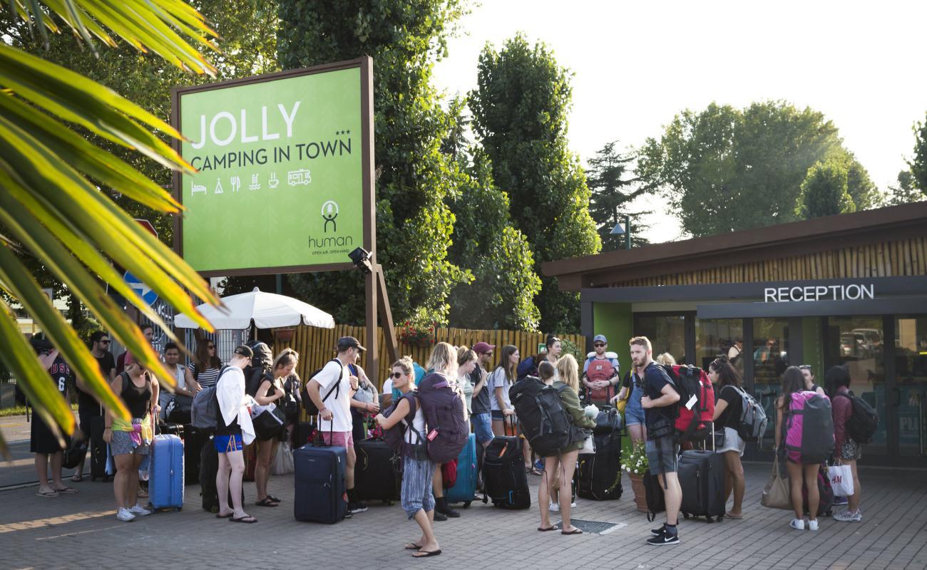 Turisti al Jolly Camping in Town | Marghera