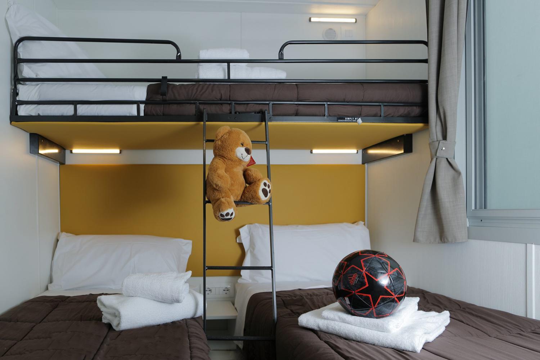 Camera da letto per bambini in casa mobile