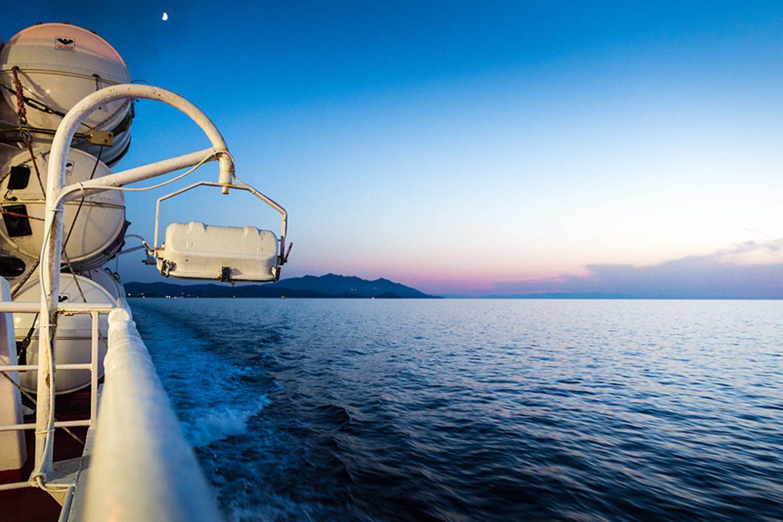 Immagine dell'isola d'Elba dal traghetto
