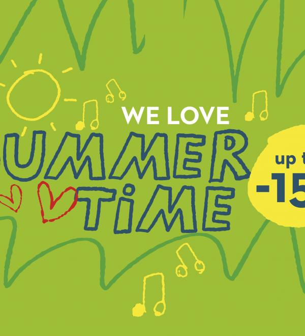 ⛱☀️ Summertime 2021: save up to 15%, use the promocode!⛱☀️
