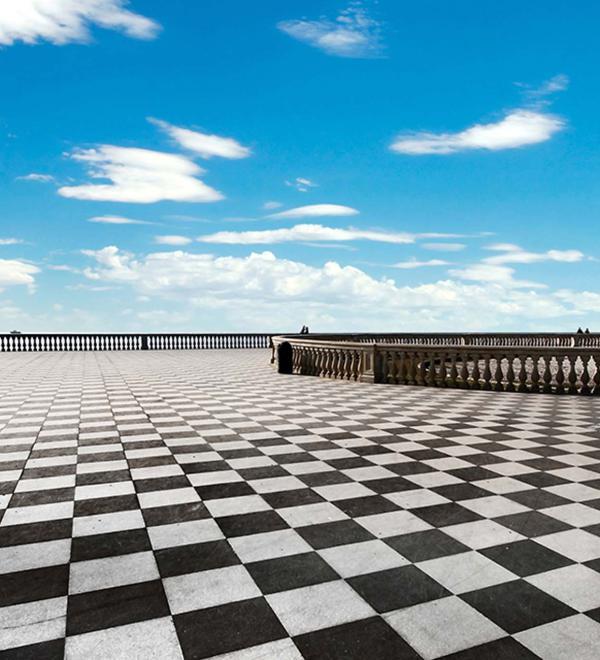 Prospettiva della Terrazza panoramica Mascagni a Livorno | Toscana