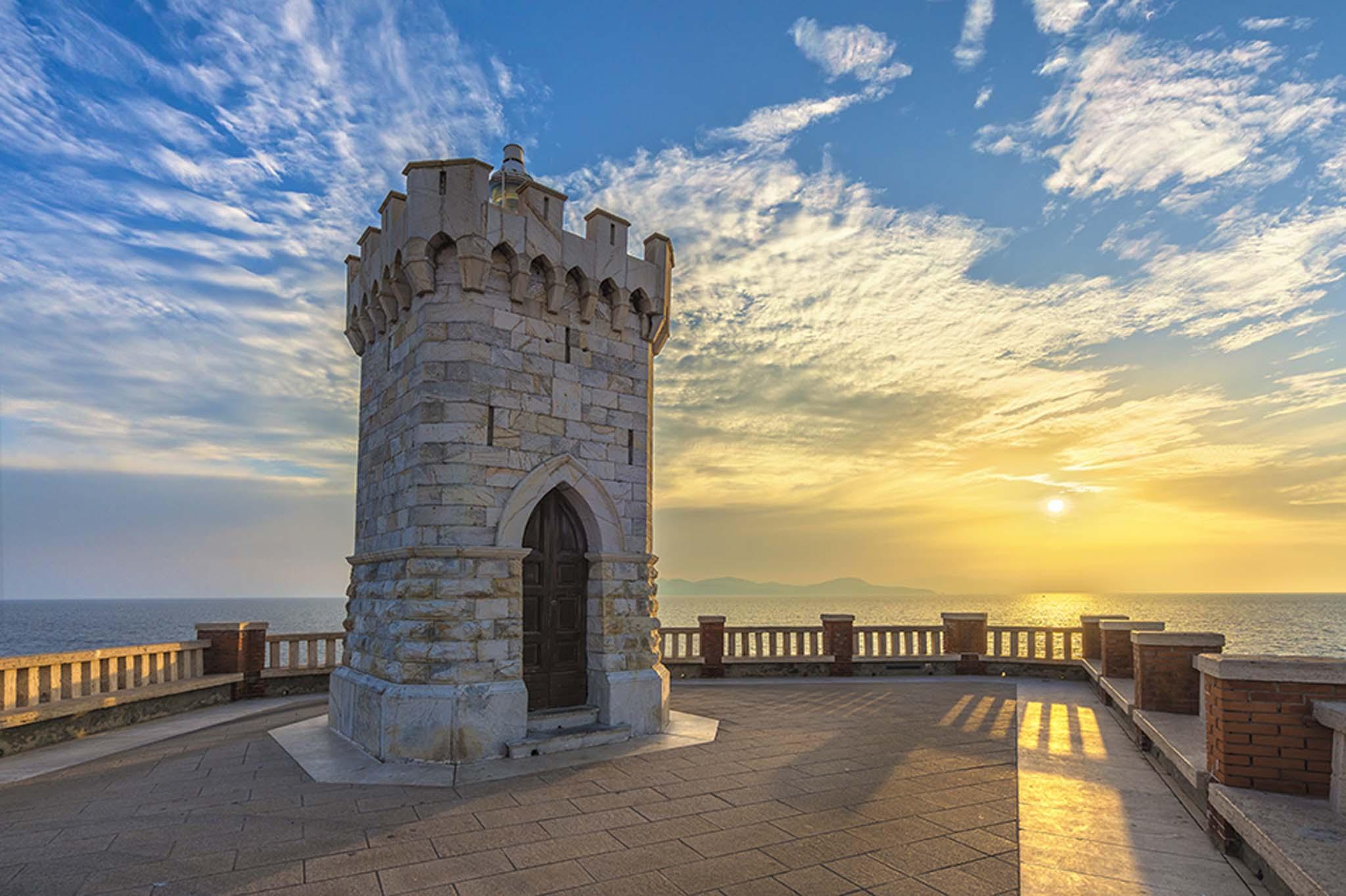 Terrazza panoramica a Piombino sul mare