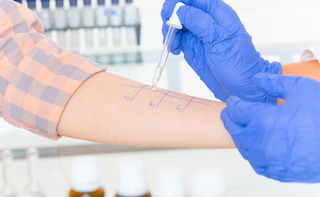 Visita pneumologica con prick test