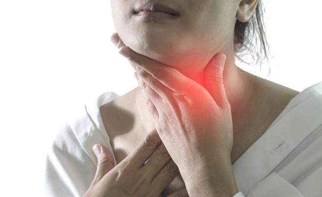 Mal di gola e ghiandole del collo ingrossate