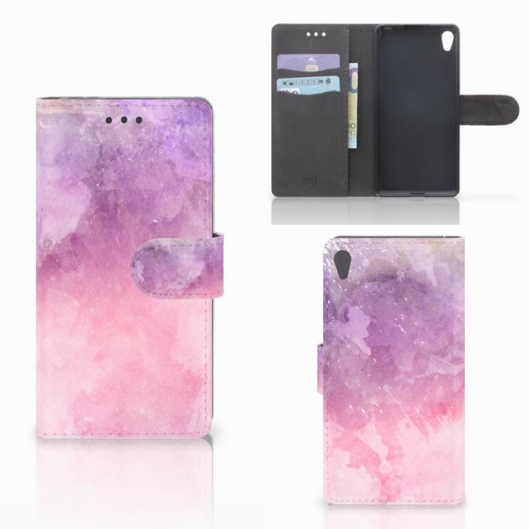 Hoesje Sony Xperia E5 Pink Purple Paint