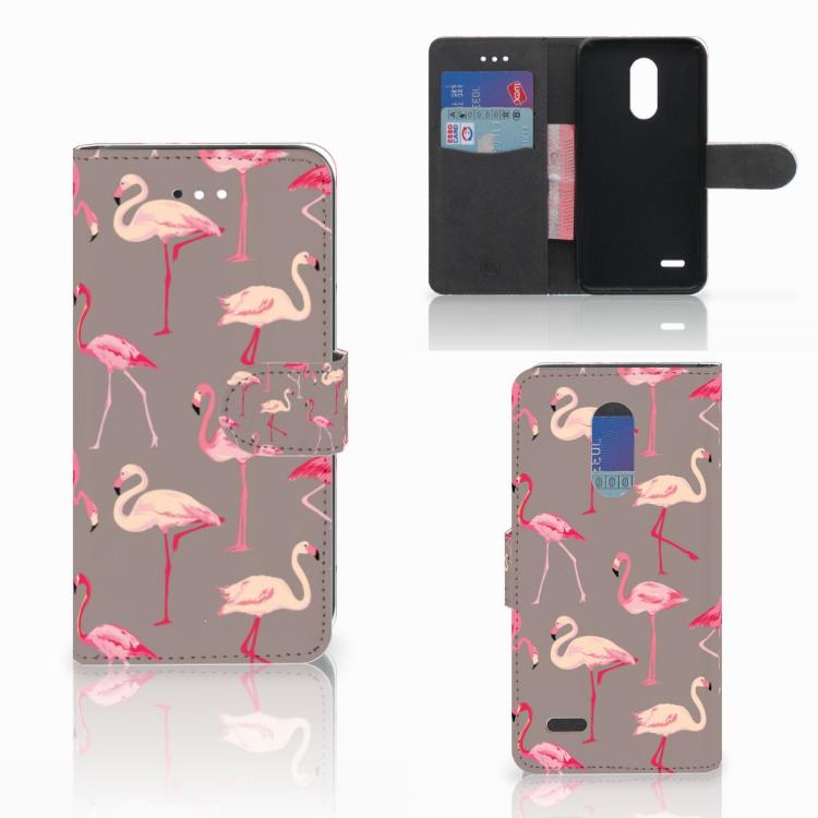 LG K11 Telefoonhoesje met Pasjes Flamingo