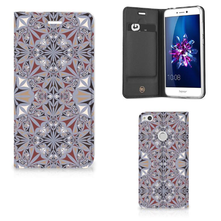 Huawei P8 Lite 2017 Standcase Flower Tiles