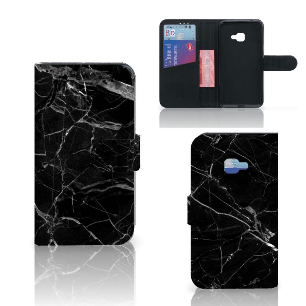 Samsung Galaxy Xcover 4 | Xcover 4s Bookcase Marmer Zwart - Origineel Cadeau Vader