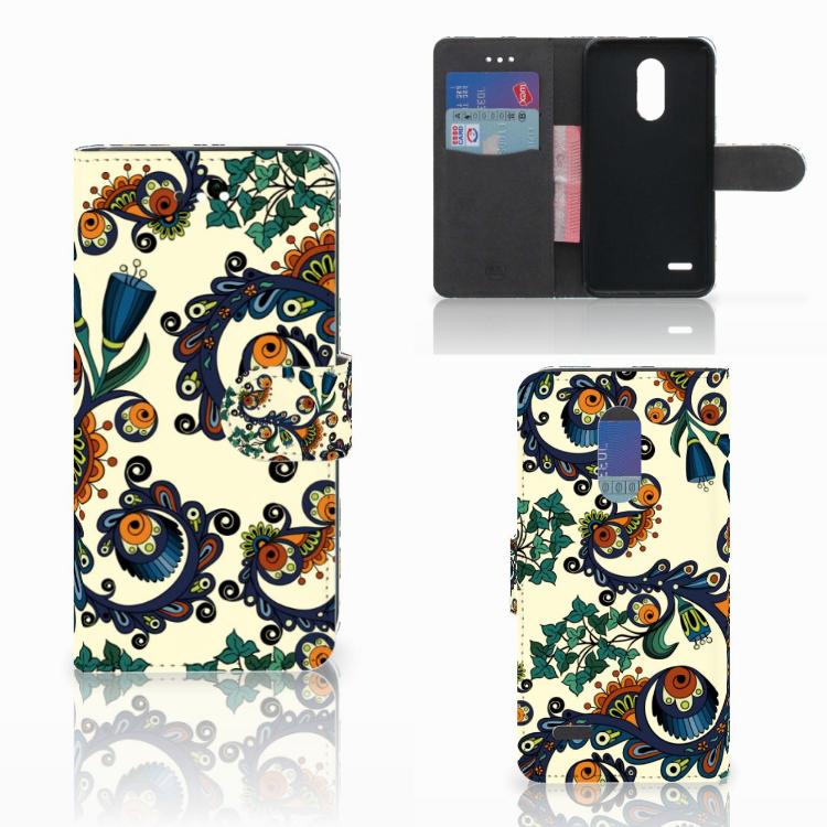 Wallet Case LG K11 Barok Flower