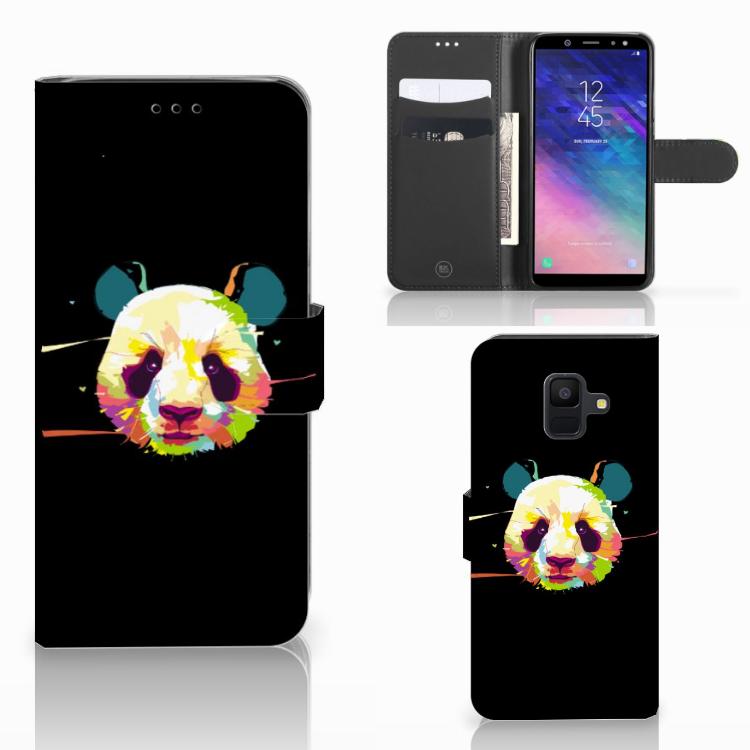 Samsung Galaxy A6 2018 Leuke Hoesje Panda Color