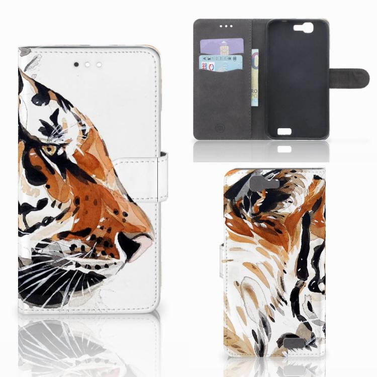 Hoesje Huawei Ascend G7 Watercolor Tiger