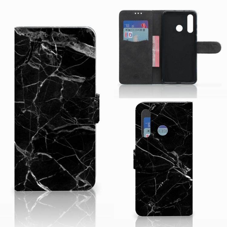Huawei Nova 4 Bookcase Marmer Zwart - Origineel Cadeau Vader