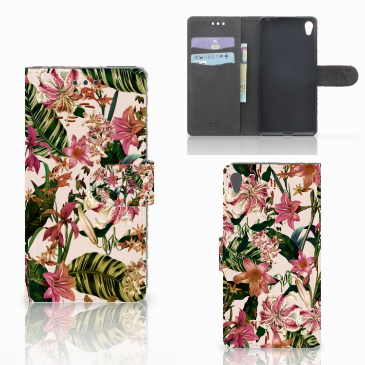 Sony Xperia E5 Hoesje Flowers