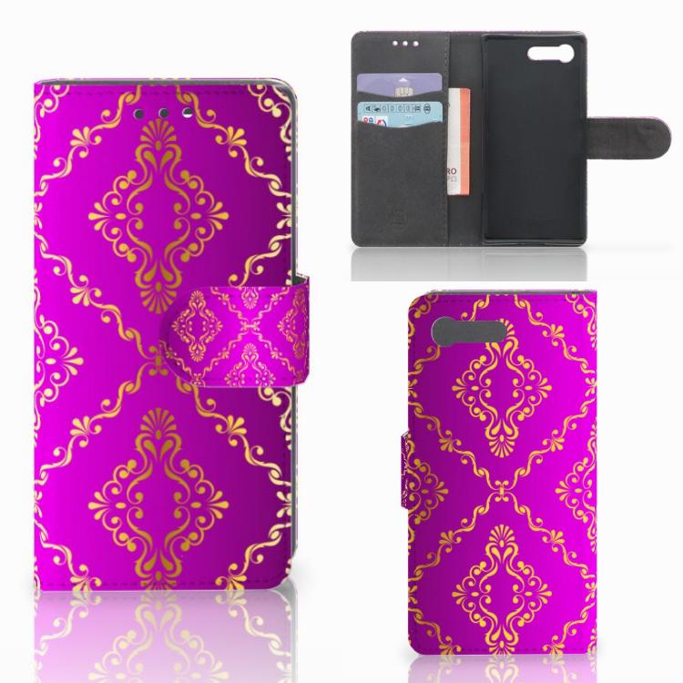 Wallet Case Sony Xperia X Compact Barok Roze