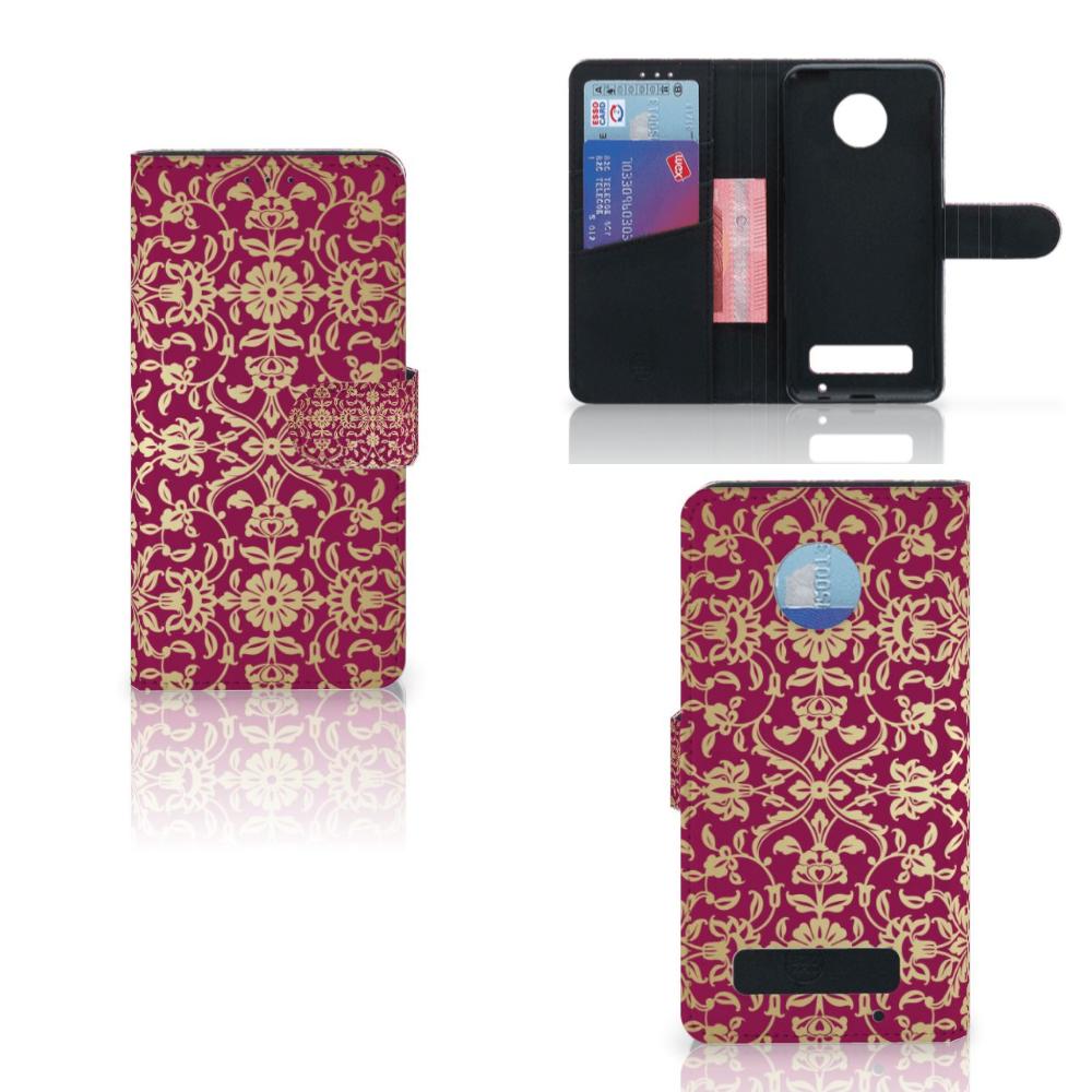 Wallet Case Motorola Moto Z Play Barok Pink