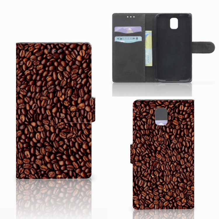 Samsung Galaxy Note 3 Book Cover Koffiebonen
