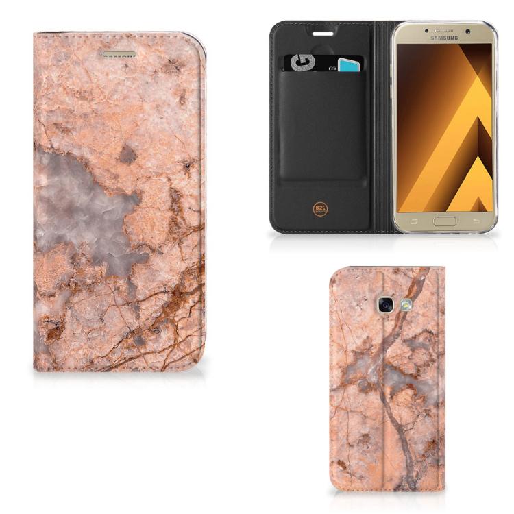 Samsung Galaxy A5 2017 Standcase Marmer Oranje