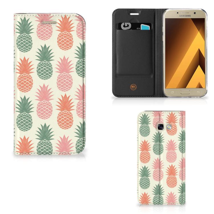 Samsung Galaxy A5 2017 Flip Style Cover Ananas