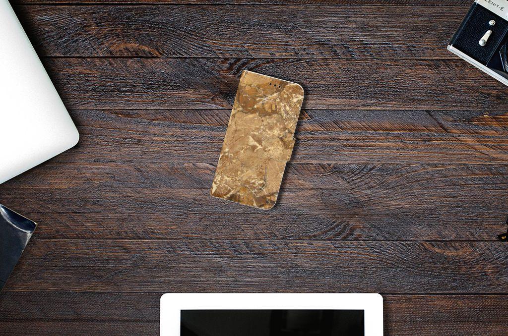 Samsung Galaxy A5 2017 Bookcase Marmer Creme