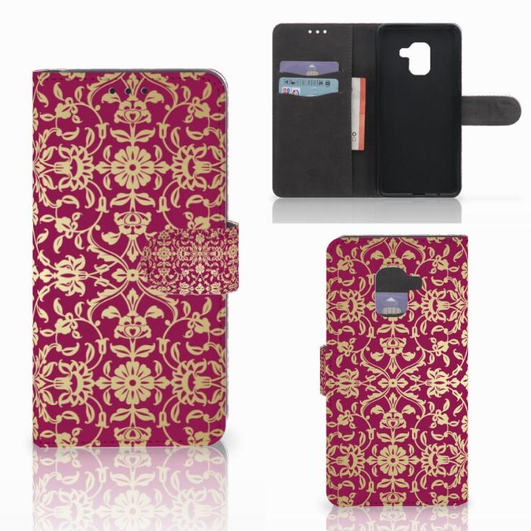 Wallet Case Samsung Galaxy A8 2018 Barok Pink
