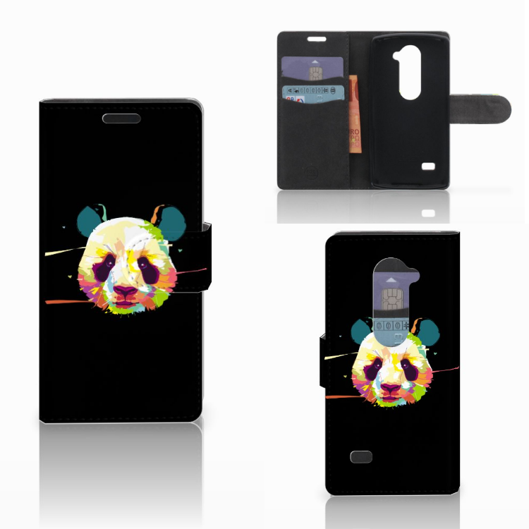 LG Leon 4G Leuke Hoesje Panda Color