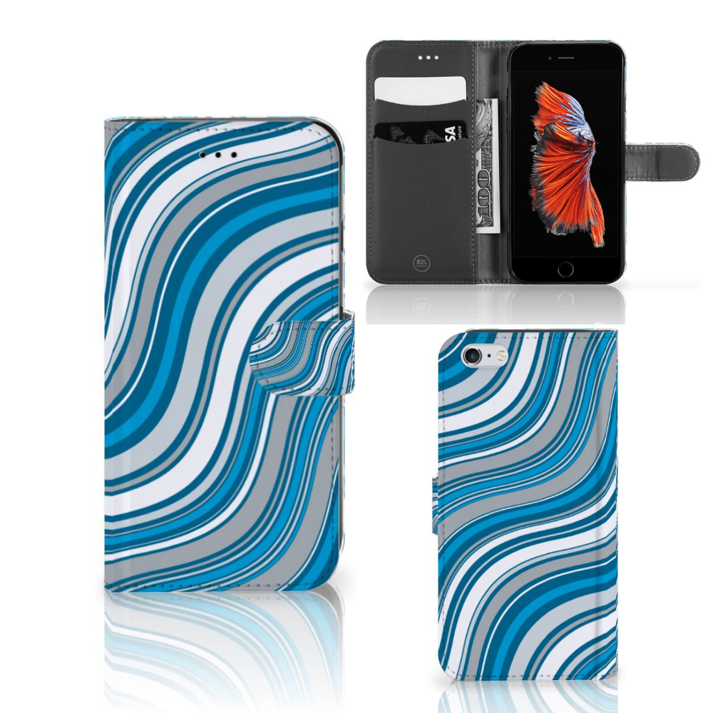 Apple iPhone 6 Plus | 6s Plus Telefoon Hoesje Waves Blue