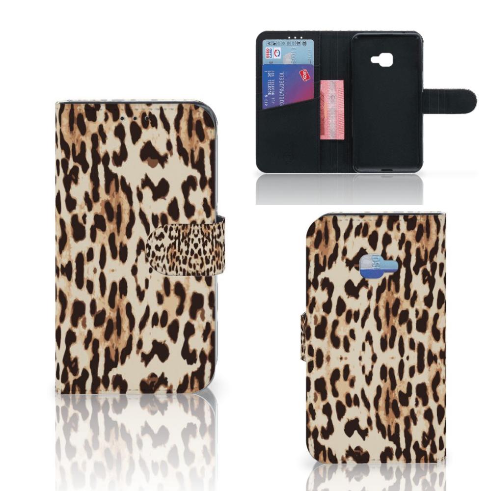 Samsung Galaxy Xcover 4 | Xcover 4s Telefoonhoesje met Pasjes Leopard